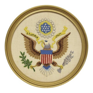 Framed Federal Eagle Embroidery