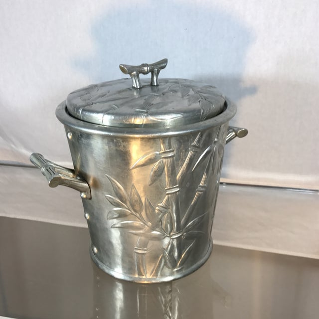 Aluminum Bamboo Ice Bucket - Image 7 of 9