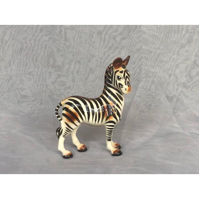 Mid-Century Modern Fern Importation Ceramic Zebra Figurine For Sale - Image 12 of 12