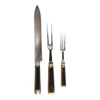 Vintage Steel Cutlery Set - Set of 3 For Sale