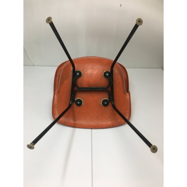 Metal Mid-Century Modern Burnt Orange Shell Chair by Cole Steel For Sale - Image 7 of 12