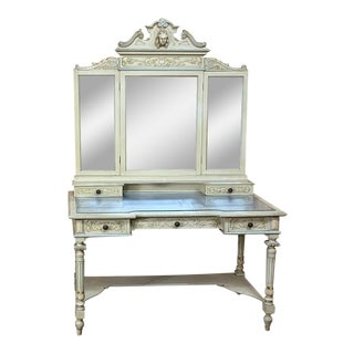 Antique Italian Louis XVI Painted Vanity For Sale