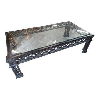 Hollywood Regency Cut Out Coffee Table For Sale