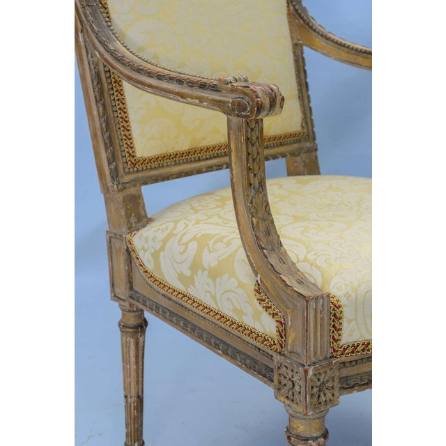 Pair of Early 19th Century Louis XVI Fauteuils For Sale - Image 9 of 10