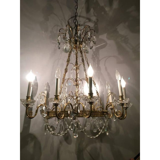 Exquisite neoclassical style hollywood regency crystal and brass neoclassical style hollywood regency crystal and brass chandelier image 3 of 10 mozeypictures Image collections