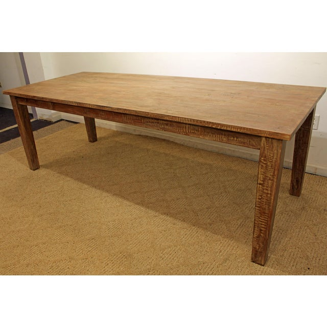 """French Country Farm Rustic Dining Table 90"""" Long - Image 11 of 11"""