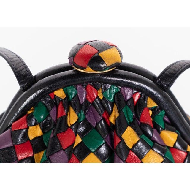 1990s Vintage Bottega Veneta Intrecciato Harlequin Shoulder Bag For Sale - Image 5 of 8