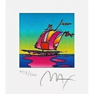 Peter Max Cosmic Sailboat 2003 For Sale