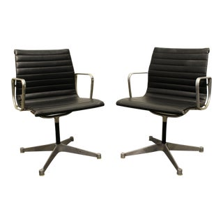 Pair of Vintage Eames for Herman Miller Aluminum Group Office Chairs For Sale
