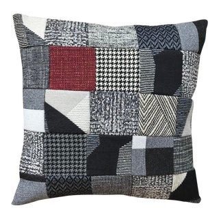 Room & Board Fabric Custom Patchwork Pillow For Sale