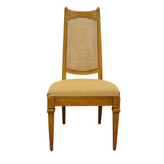 1960s Vintage Drexel Heritage San Remo Italian Provincial Cane Back Dining Side Chair For Sale