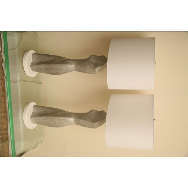 Gold Sensual Pair of Ceramic Silhouette Lamps For Sale - Image 8 of 10