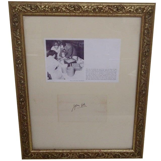 Jonas Salk Autograph & Photograph For Sale