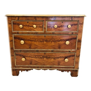 Antique Victorian Burl Chest For Sale