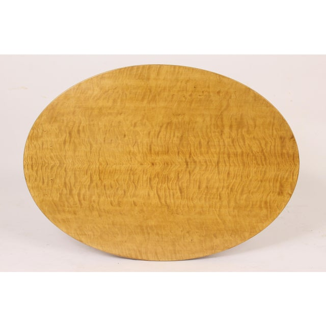 Biedermeier Style Oval Occasional / Center Table For Sale - Image 9 of 11