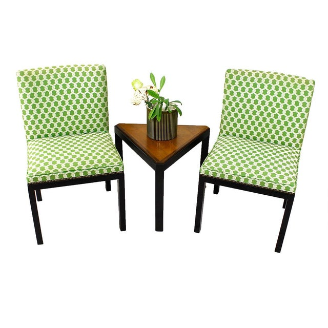Green Accent Chairs - A Pair - Image 2 of 7