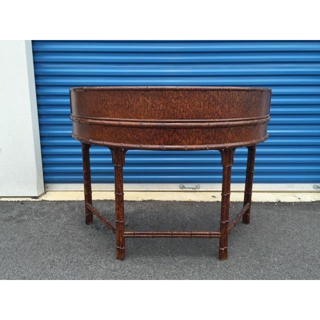 Ficks Reed Demilune Writing Desk - Image 5 of 8