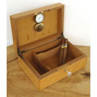 Vintage Italian Burlwood Cigar Humidor Lined in Cedar Preview