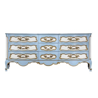 Karges French-Style Blue & White Dresser For Sale