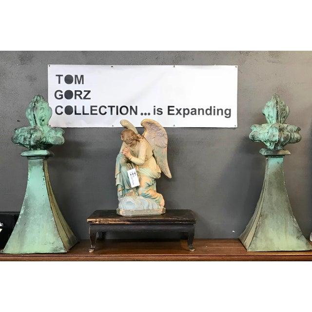 Copper French fleur-de-lis Finials For Sale - Image 7 of 8