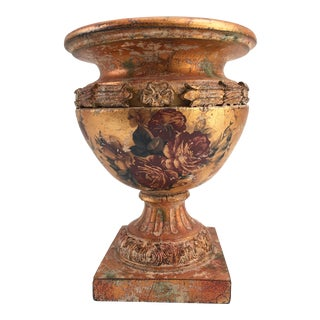 French Neoclassical Hollywood Regency Style Copper Vase For Sale