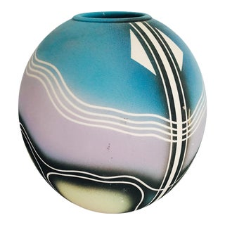 Vintage Hutchfield Studios Modern Sand Art Vase For Sale