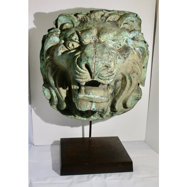Early 20th Century Vintage Copper Repouss'e Lion Statue For Sale - Image 10 of 10