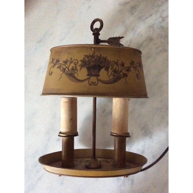 Brass 1940s Vintage French Tole Bouillotte Desk Lamp For Sale - Image 8 of 12