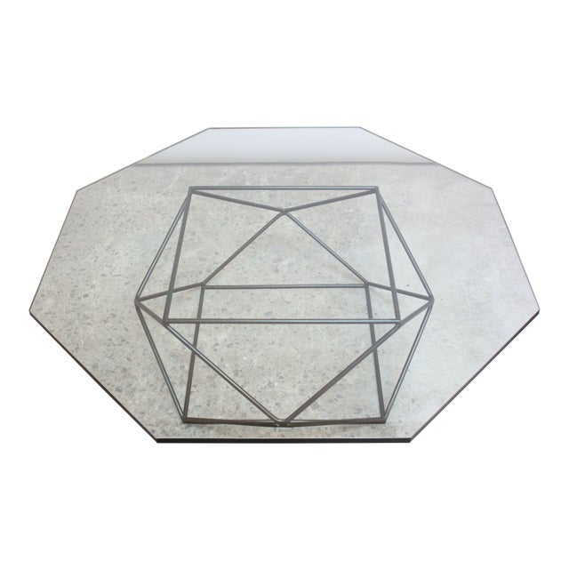 Milo Baughman for Directional Geometric Bronze Coffee Table For Sale