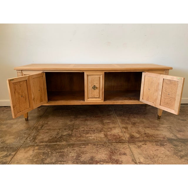 1950s Scandinavian Birch Petite Console Table For Sale In Los Angeles - Image 6 of 8