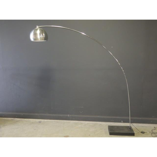 Mid-Century Modern 1970s Vintage George Kovac Style Chrome Arc Lamp For Sale - Image 3 of 9