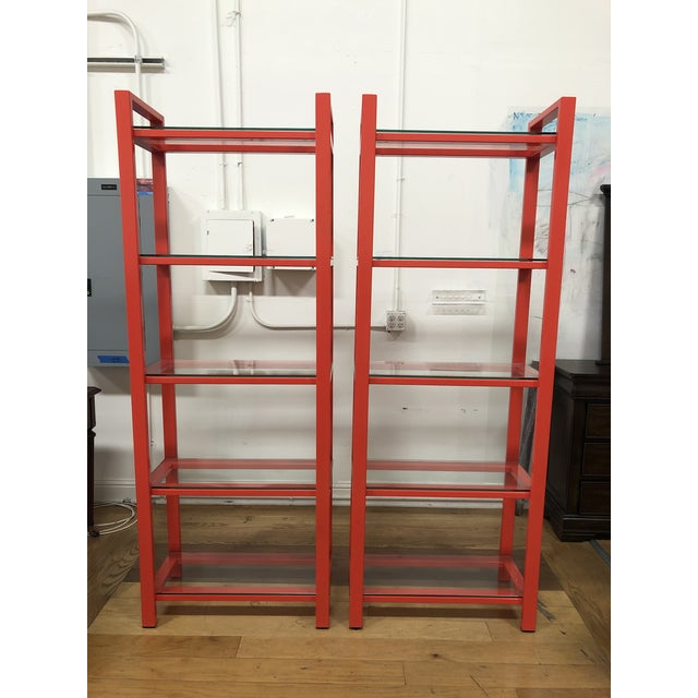 Pair of Crate & Barrel Pilsen Paprika Bookcases For Sale - Image 10 of 10