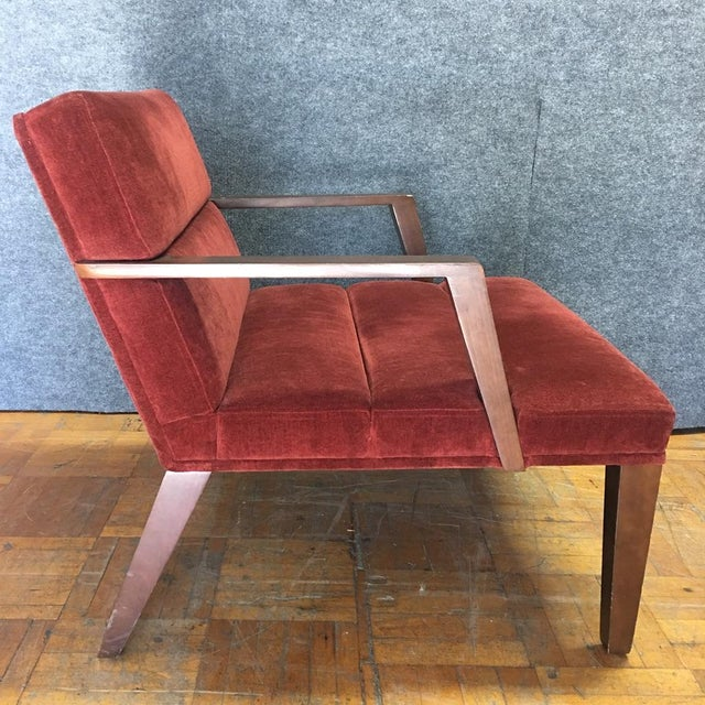 Bright Elana Burgundy Lounge Armchairs - A Pair - Image 7 of 11