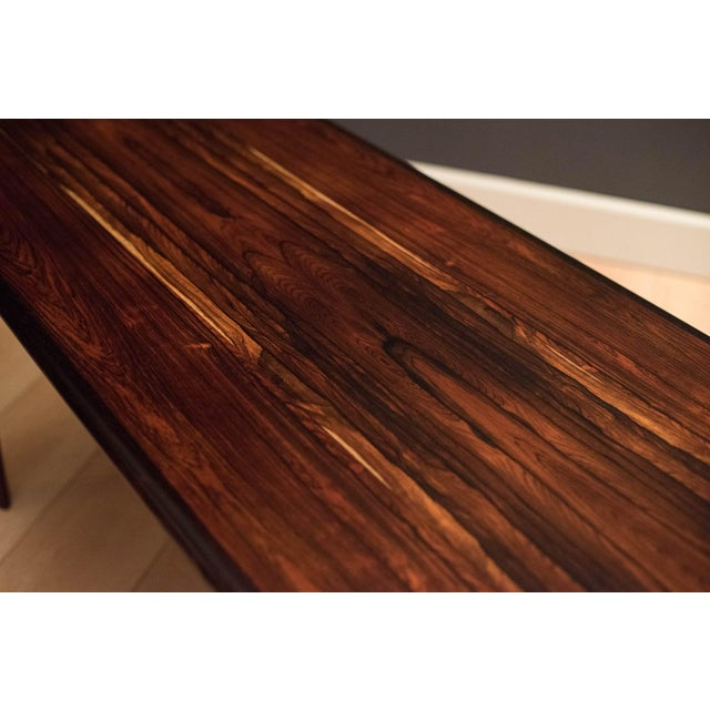 Mid 20th Century Scandinavian Modern Westnofa Rosewood Coffee Table For Sale - Image 5 of 11
