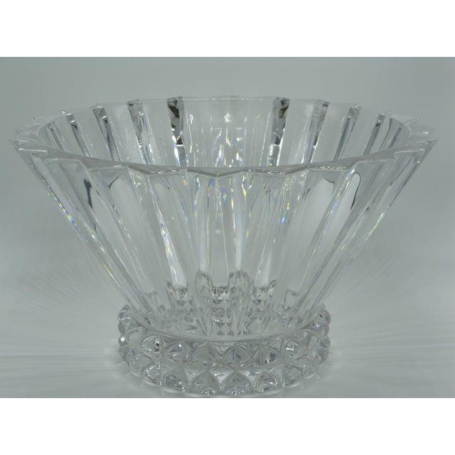 Rosenthal German Brutalist Crystal Centerpiece Fruit Bowl For Sale - Image 4 of 10