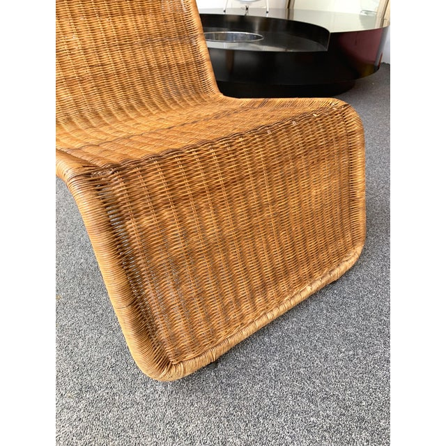Pair of Rattan Lounge Chair P3 by Tito Agnoli. Italy, 1960s For Sale - Image 10 of 12