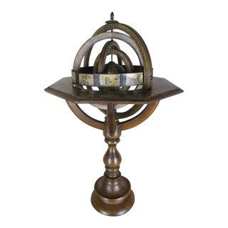 Vintage Celestial Zodiac Spinning Globe