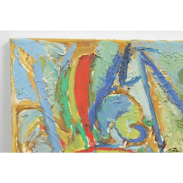1990 Abstract composition featuring winged figures in primary colors against a light blue background. Lars Larsen (Danish,...