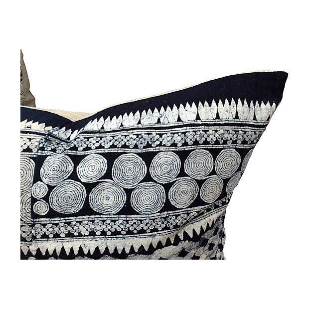 Tribal Indigo Batik Pillows - Pair - Image 5 of 6