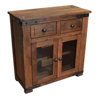 "Crafters and Weavers Granville Parota Wood Entry Cabinet - 36"" For Sale"