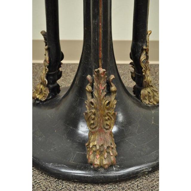 Vintage Tessellated Stone Lion Head Pedestal Bird Bath For Sale - Image 4 of 13