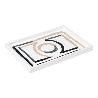 Luke Edward Hall Collection Small Etienne Tray in Bright White