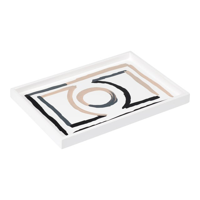 Luke Edward Hall Collection Small Etienne Tray in Bright White For Sale