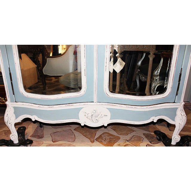 19th Century French Country Painted Armoire For Sale - Image 9 of 13
