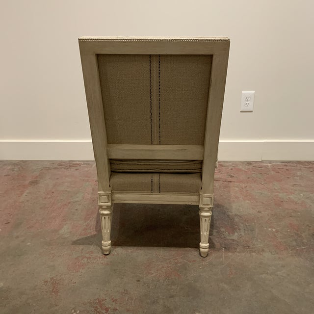 French Linen Slipper Chair by Hickory Chair For Sale - Image 3 of 8