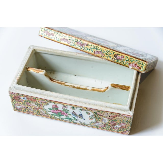 Chinese Rose Medallion Floral Box For Sale - Image 4 of 8