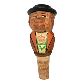 German Hand Carved Bottle Cork For Sale