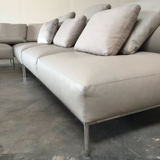B&B Italia 'Frank' Leather Sectional For Sale In Los Angeles - Image 6 of 8
