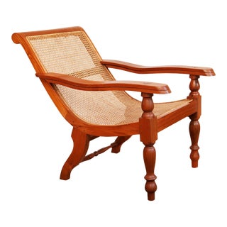 Dutch Colonial Caned Plantation Chair For Sale