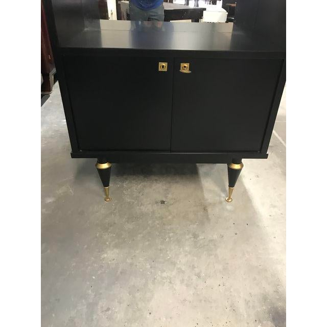 1940's French Art Deco Ebonized Dry Bar Cabinet For Sale - Image 12 of 13